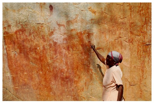 Mbuya Aghondo and prehistoric rock art of Chinhampere in Manica province of Mozambique