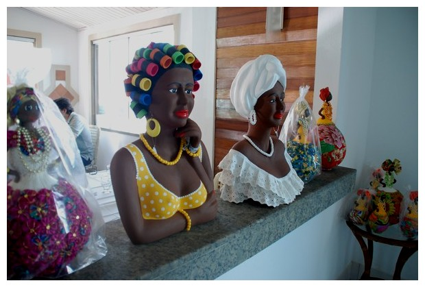 Traditional dresses of women in Bahia
