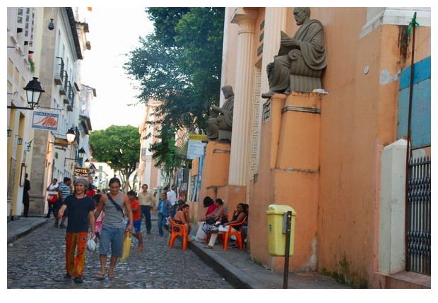Statue of Hippocrates, school of medicine, Salvador, Bahia, Brazil