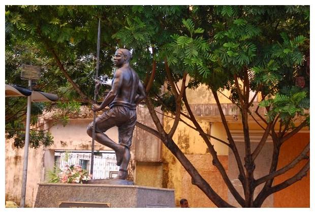 Statue of Zumbi Dos Palmares, Pelorinho, Salvador, Brazil