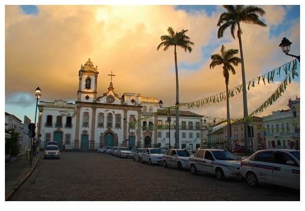 Evening in Pelorinho Salvador de Bahia