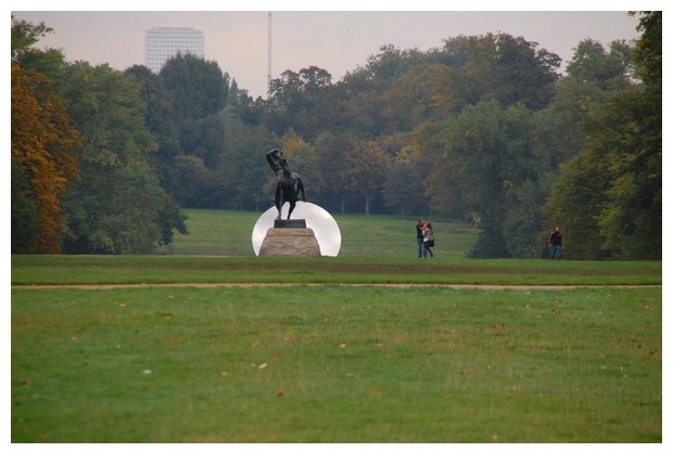 Sculptures by Anish Kapoor, Kensington gardens, London, October 2010