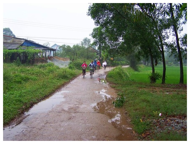 A village after rain, near Hue in Vietnam