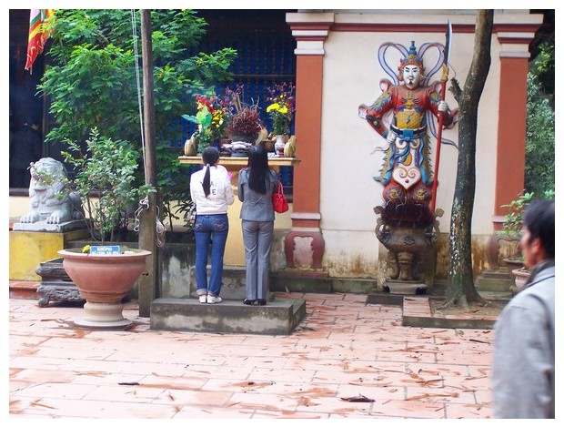 Prayers in Buddhist temples in Than Ba district of Vietnam