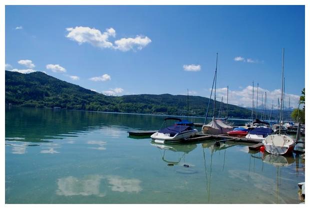 Klagenfurt lake, Austria