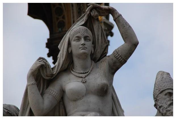 Asia statue, Albert memorial, London UK