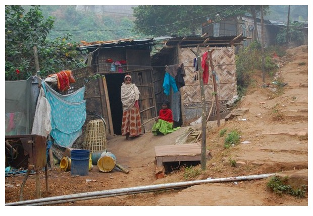 Morning in a slum, Guwahati, Assam, India