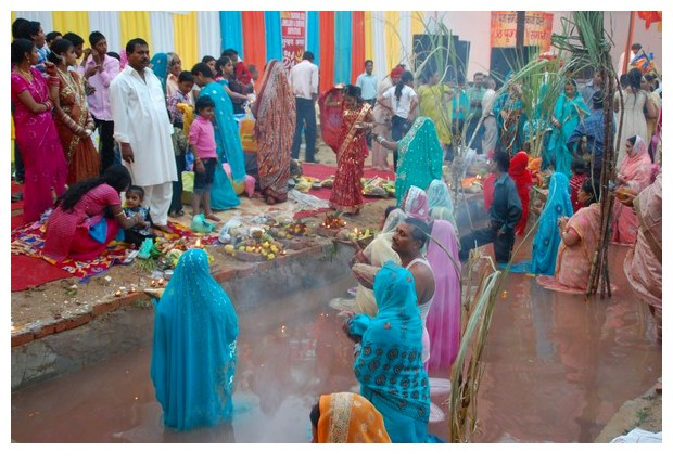 Chhath puja celebrations in Delhi, 2010