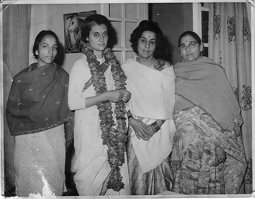 Indira Gandhi, Teji Bacchan, Pushpa Bharati