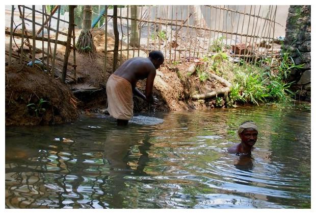 Men from life along backwaters of Kerala, India