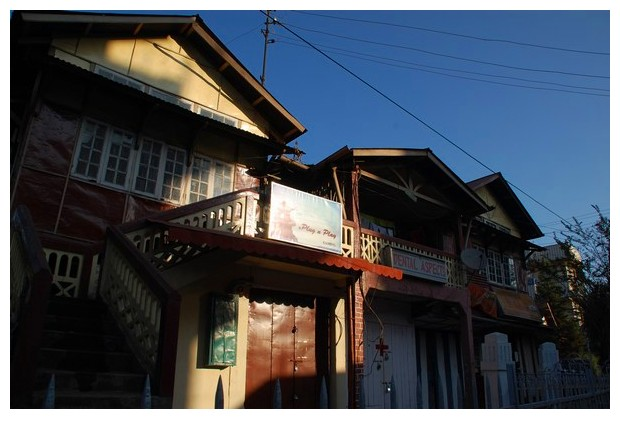 Houses in Shillong, Meghalaya, India