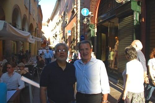 Sunil with Mr. Romano Prodi, Bologna, 5 June 2010