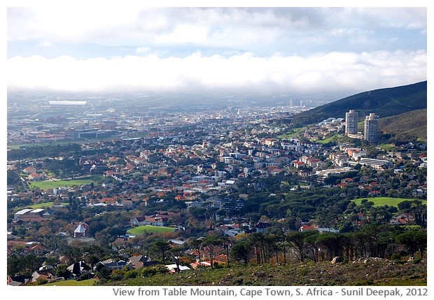 Cape town from Table Mountain, South Africa - images by Sunil Deepak, 2012