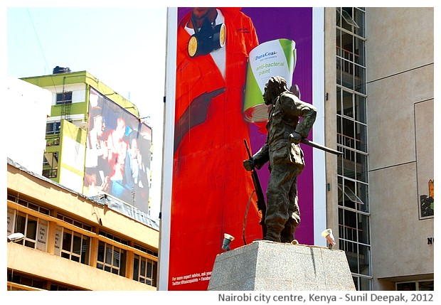 Monuments, Nairobi city centre, Kenya - images by Sunil Deepak, 2012