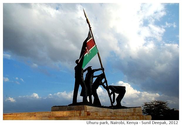 Uhuru park Monument, Nairobi, Kenya - images by Sunil Deepak, 2012