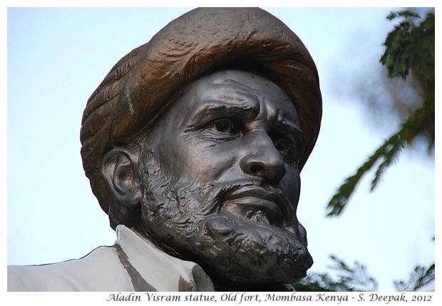 Aladin Visram statue, Mombasa fort, Kenya - S. Deepak, 2012