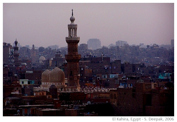 Dusk in Old Cairo, Egypt - images by Sunil Deepak, 2006