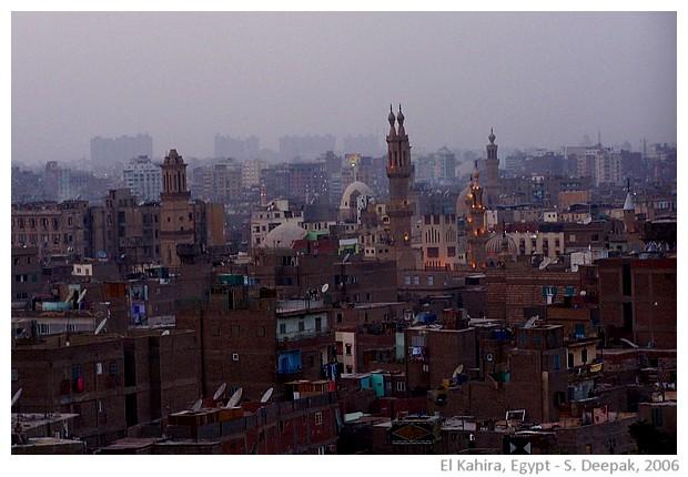 Dusk in Old Cairo, Egypt - images by Sunil Deepak, 2006