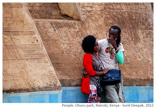 People, Uhuru park, Nairobi, Kenya - images by Sunil Deepak, 2012
