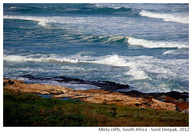seaside, Misty cliffs, South Africa - images by Sunil Deepak, 2012