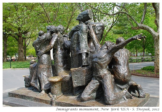 Immigrant memorial, New York - S. Deepak, 2012