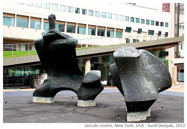 Sculptures, Lincoln square plaza, New York, USA - images by Sunil Deepak, 2012