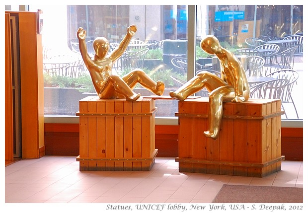 Statues at UNICEF lobby, New York - S. Deepak, 2012
