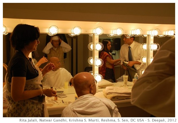 Actors preparing for A Tryst with destiny, Washington DC, USA - S. Deepak, 2012