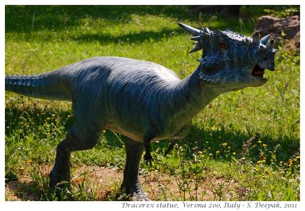 Dracorex, Dinosaur park, Verona zoo, Italy - images by S. Deepak