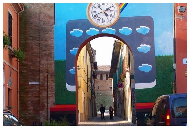 Blue doors - Dozza, Italy