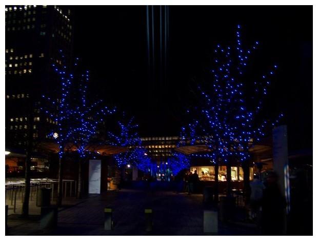Blue coloured lights, Europe
