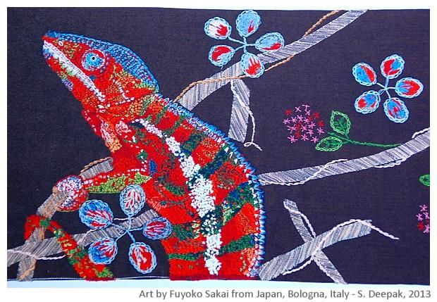 Colourful chameolon Bologna, Italy - Sunil Deepak, 2013