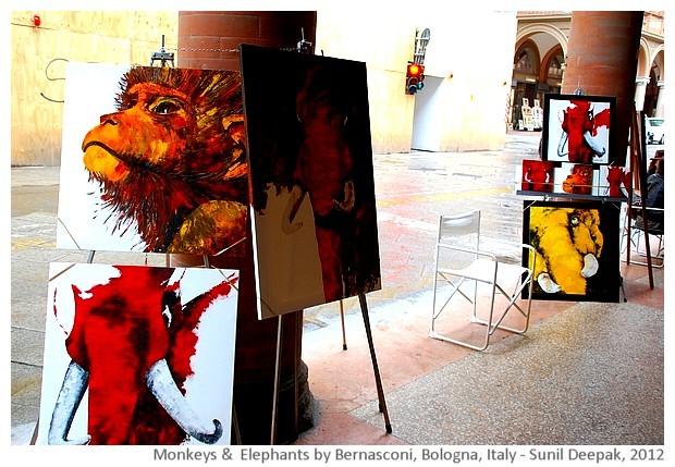 Red & yellow elephants, Bologna, Italy - Sunil Deepak, 2012