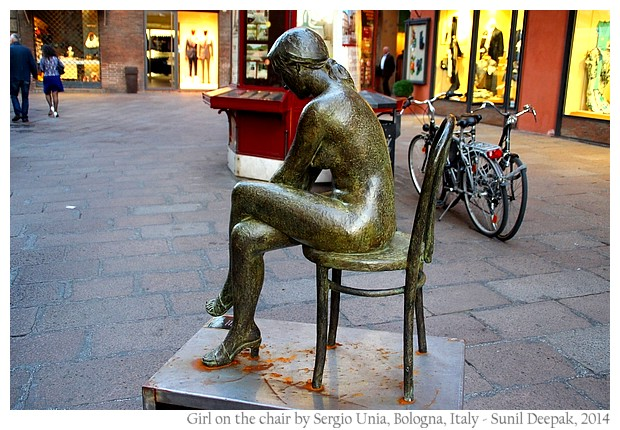 Girl on the chair by Sergio Unia, Bologna, Italy - images by Sunil Deepak, 2014