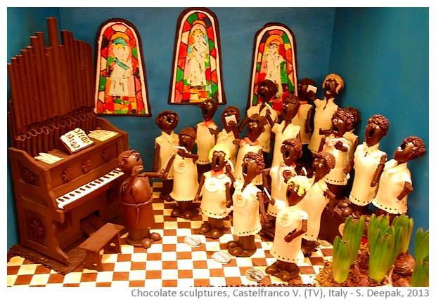 Chocolate church choir, Castelfranco Veneto, Italy - S. Deepak, 2013