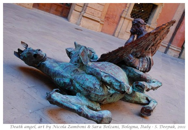 Death angel, sculpture by N. Zamboni & Sara Bolzani, Bologna - S. Deepak, 2011
