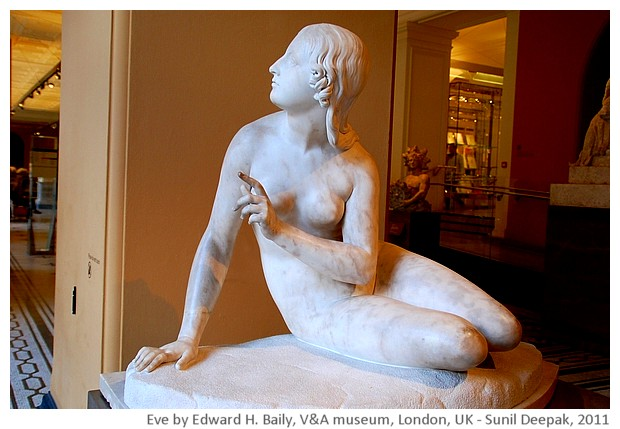 Eve by Edward H. Baily, V&A museum, London, UK - images by Sunil Deepak, 2013