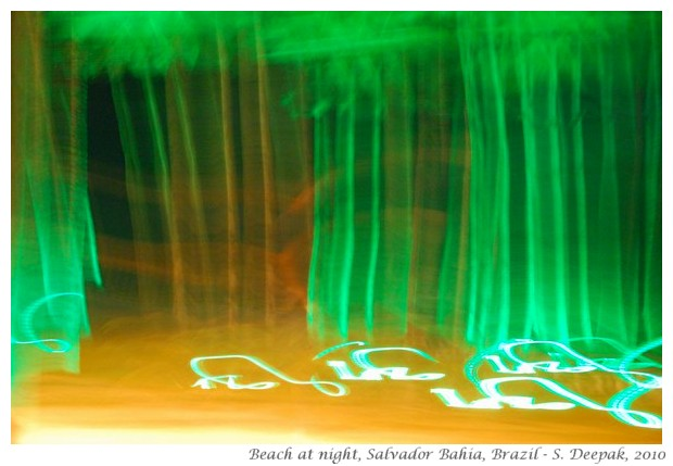 Green lights & cocconut trees, Salvador, Bahia, Brazil - S. Deepak, 2010
