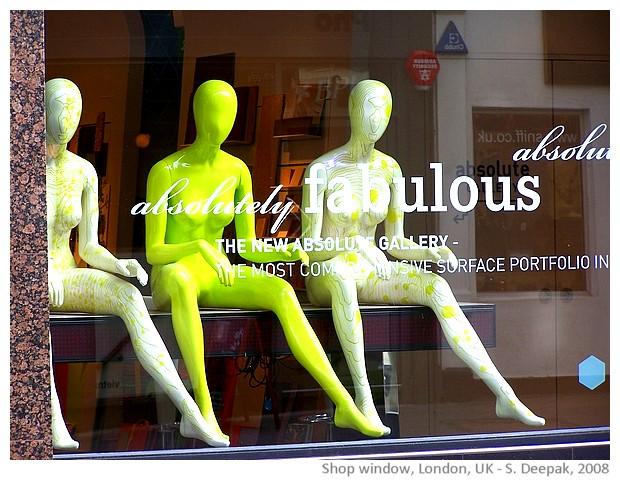 Green & yellow, shop window, London UK - S. Deepak, 2008