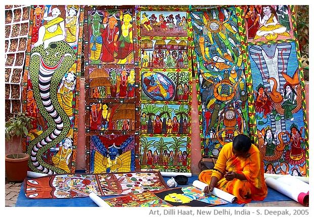 Green & yellow, artist, Dilli Haat, Delhi, India - S. Deepak, 2005