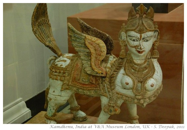 Wooden Kamdhenu statue, London - S. Deepak, 2011