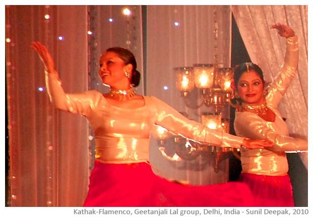 Kathak Flamenco fusion dance, Delhi, India - images by Sunil Deepak, 2010