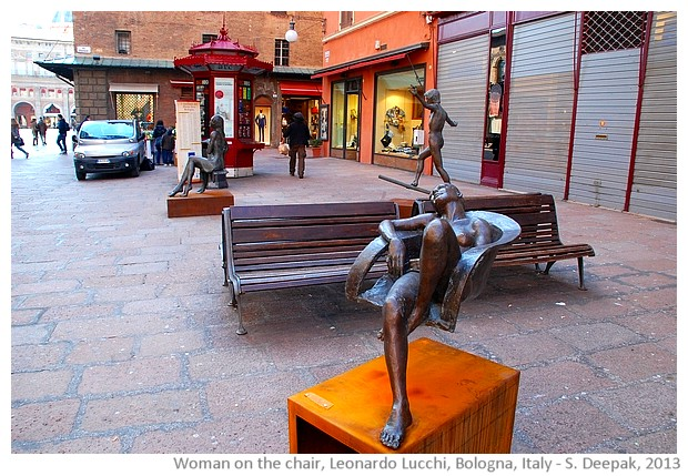 Woman on floating chair by Leonardo Lucchi, Bologna, Italy - S. Deepak, 2013