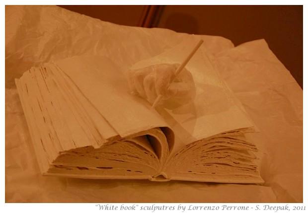 White book scultures - S. Deepak, 2011