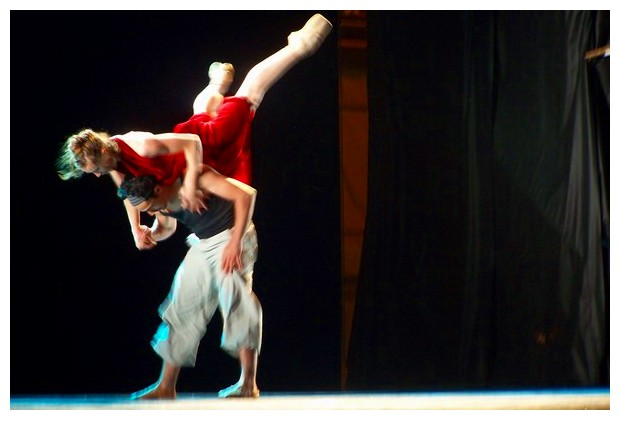 Rehearsal of a modern dance show, Bologna, Italy