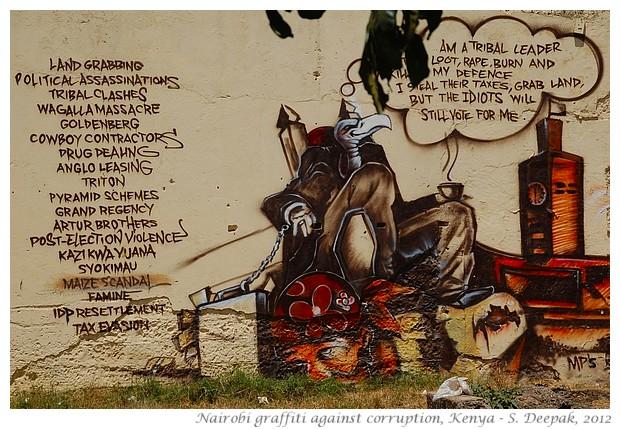 Graffiti against corruption, Nairobi, Kenya - S. Deepak, 2012