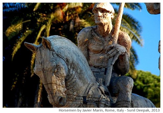 Horsemen, Javier Marin, Rome, Italy - images by Sunil Deepak, 2013