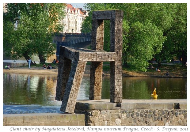 Giant chair of Kempa Museum, Prague, Czech - S. Deepak, 2011