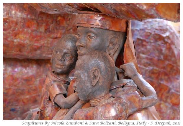 Sculptures by Nicola Zamboni e Sara Bolzani, Bologna, Italy - S. Deepak, 2011
