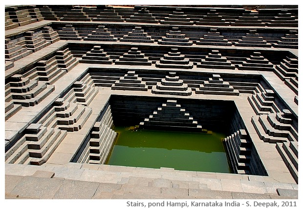 Stairs, Hampi Karnataka, Pond, India - S. Deepak, 2011